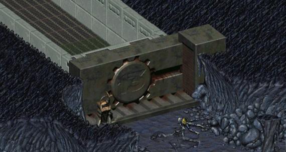 The Vault 13 door
