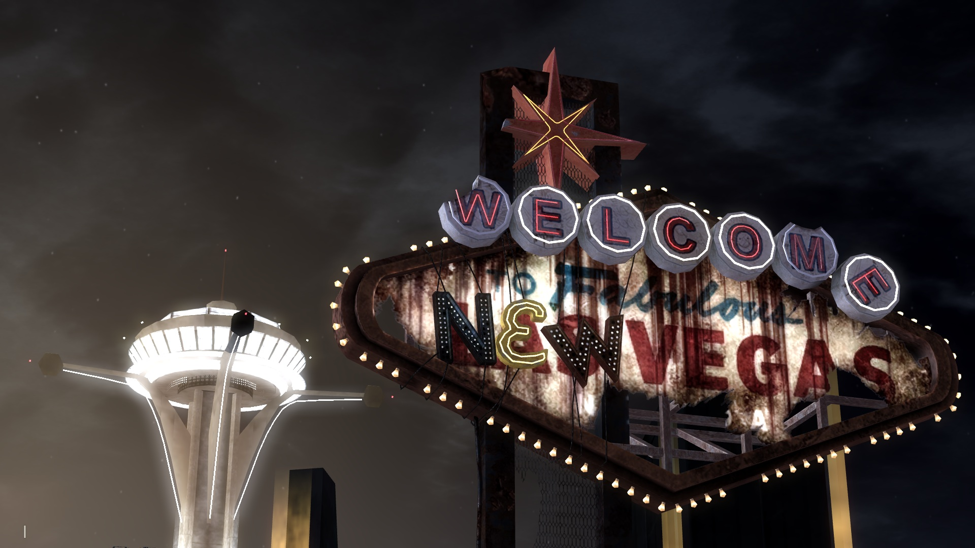 """Welcome to New Vegas"" sign and the Lucky 38"